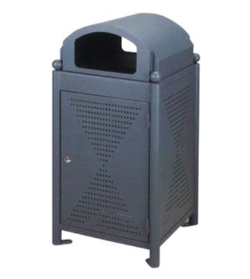 户外钢制冲孔果皮箱