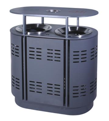 广场环保分类钢制垃圾箱