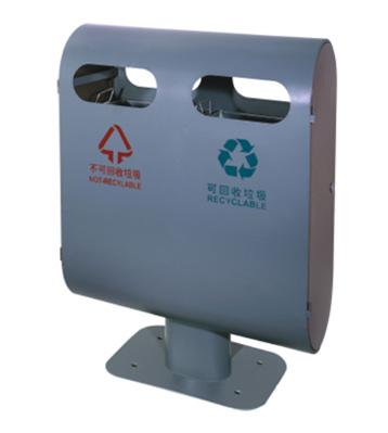 四向投口钢制垃圾桶