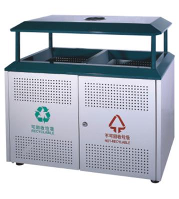 开放式分类钢制垃圾箱