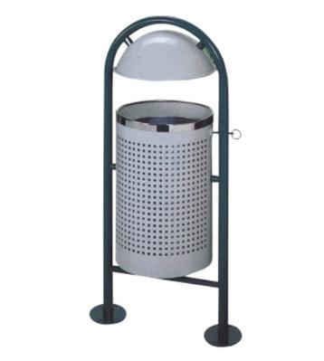 钢制冲孔圆形垃圾桶