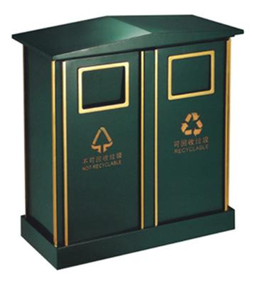 邮政定制分类钢制垃圾桶