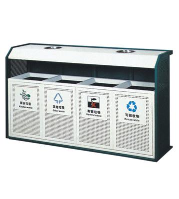 四分类环保钢制垃圾桶