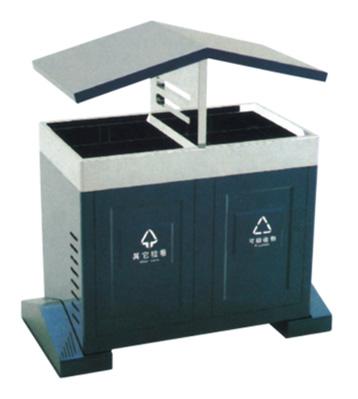 街区分类环保钢制垃圾桶