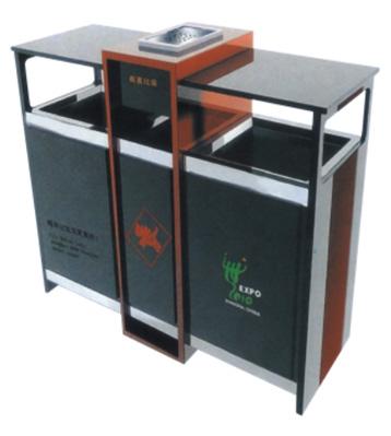吉祥分类环保钢制垃圾桶