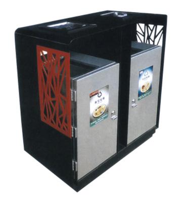 巢花分类环保钢制垃圾桶