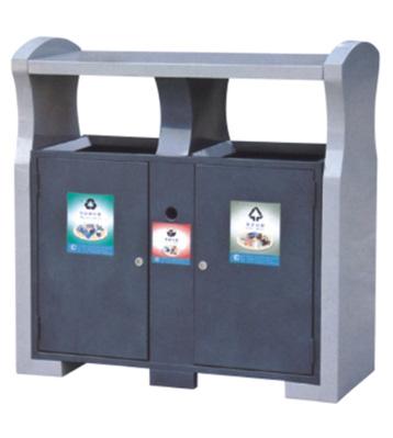 座地分类环保钢制垃圾桶