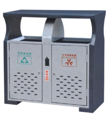 座地冲孔环保钢制垃圾桶