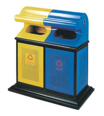 弧形座地钢制垃圾桶