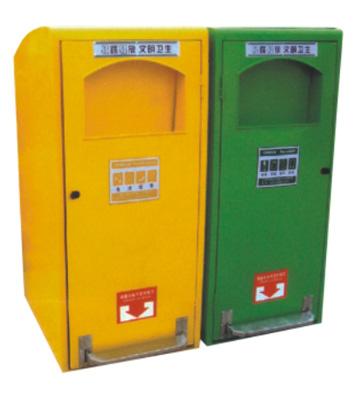 商用创意脚踏式钢制分类垃圾箱