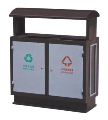 小区环卫分类钢制垃圾箱