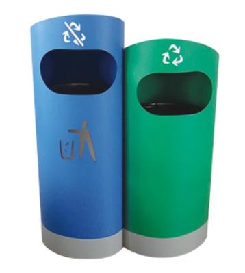 游乐园分类钢制垃圾箱主图