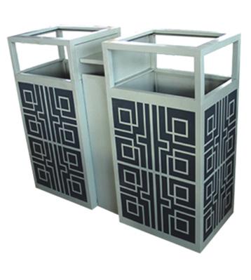 定制花纹分类钢制垃圾箱