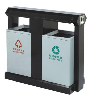学院环保分类钢制垃圾箱