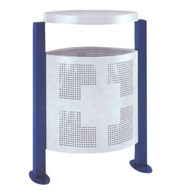 户外立式冲孔钢制垃圾桶