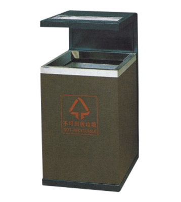 室内方形钢制垃圾桶