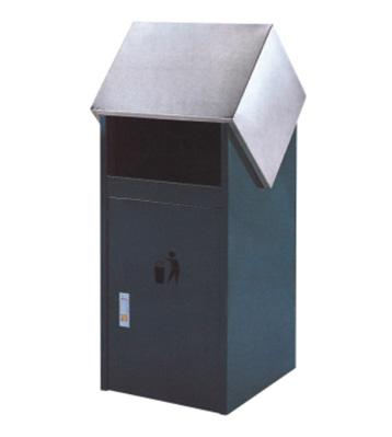 户外滑盖钢制垃圾桶