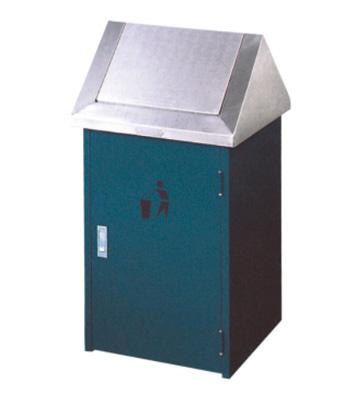 户外小区滑盖钢制垃圾桶