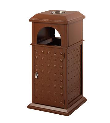 古典别墅型钢制垃圾桶