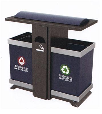 户外分类钢制垃圾桶