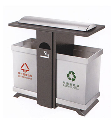 户外环保钢制垃圾桶