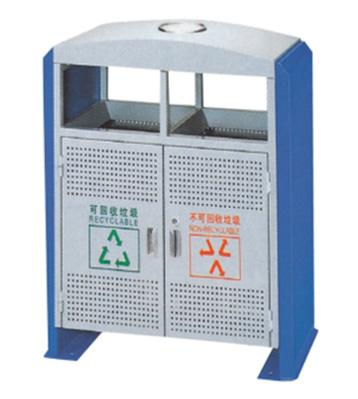 拉盖分类钢制垃圾桶