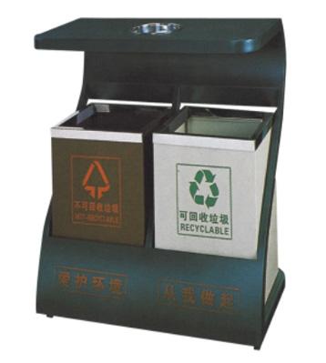 Z字型户外钢制垃圾桶主图