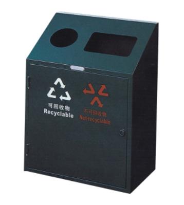 单桶双投口垃圾箱