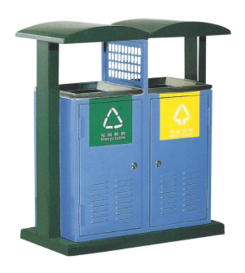 对开门户外分类垃圾桶
