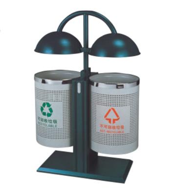 装饰路灯式钢制垃圾桶