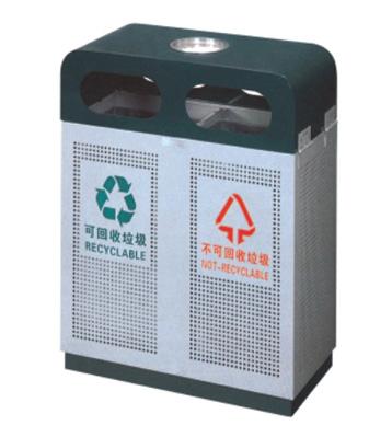街道绿化钢制垃圾箱