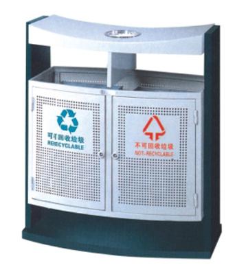 曲形分类钢制垃圾箱