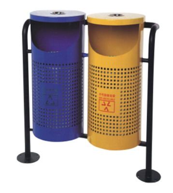 透气分类钢制垃圾桶