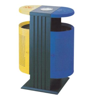 方形底座分类钢制垃圾桶