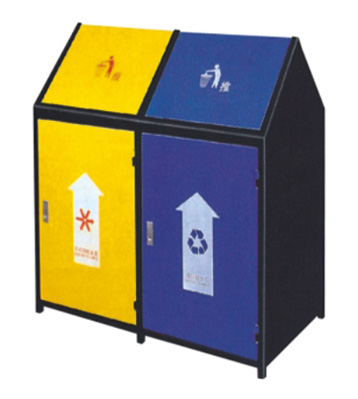 三角形户外钢制垃圾桶