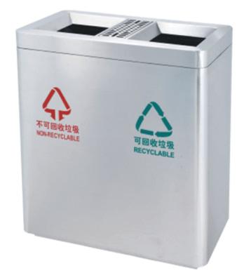 不锈钢分类商场垃圾桶主图