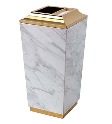 爵士白大理石酒店垃圾桶