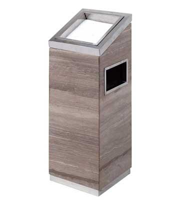 灰木纹斜面大理石烟灰桶