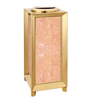 立式钛金垃圾桶