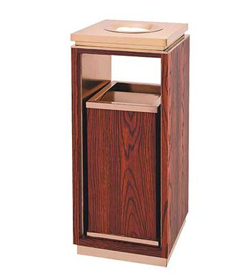 仿木纹酒店垃圾桶