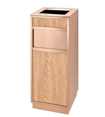 客房仿木玫瑰金垃圾桶