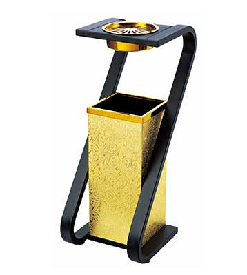 S型钛金烟灰缸垃圾桶