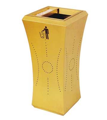商用室内钛金环保果皮箱