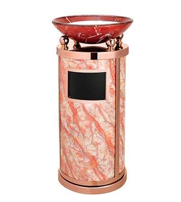 仿大理石玫瑰金烟灰桶