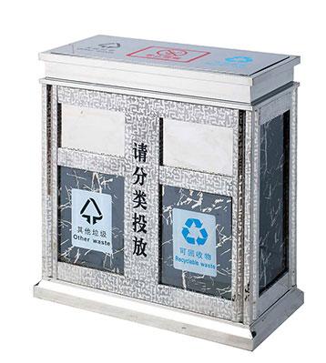 大理石地铁分类垃圾桶