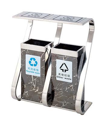 不锈钢大理石地铁垃圾桶