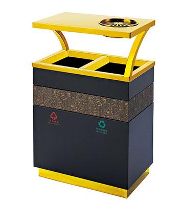 酒店钛金分类垃圾桶