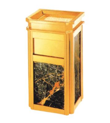 靠墙钛金垃圾桶果皮箱