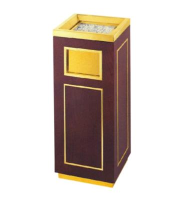 日式钛金铜木垃圾桶
