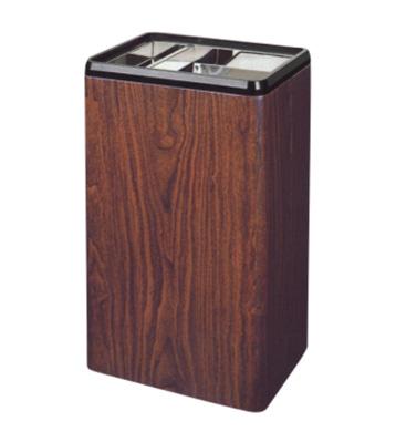 红桃木色长形圆角烟灰桶